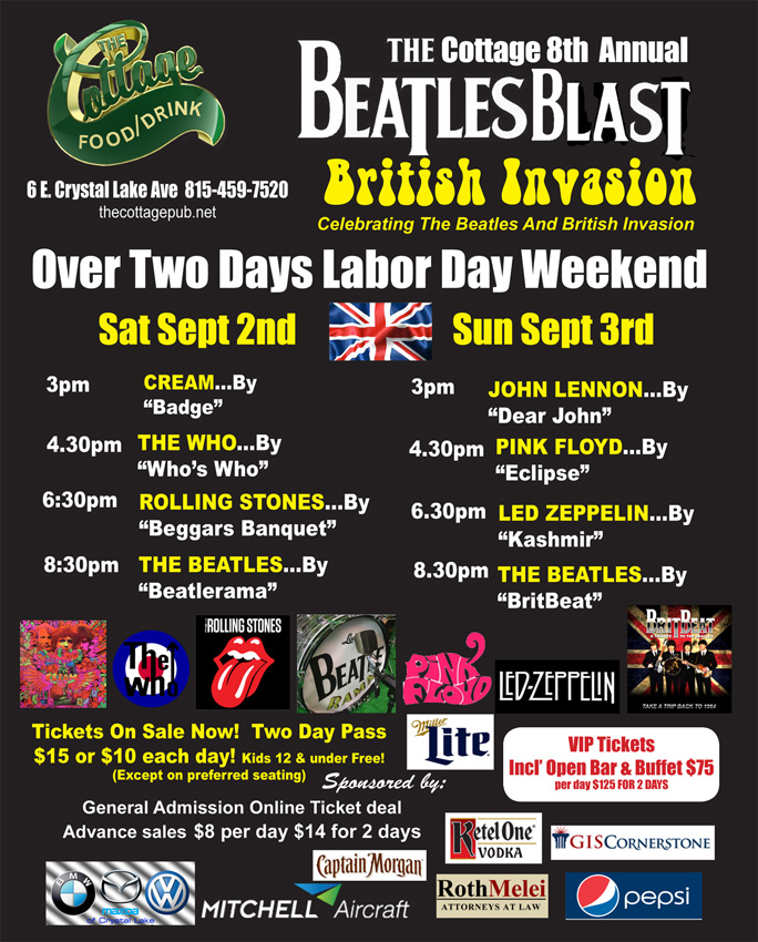 The Cottage Beatles Bash